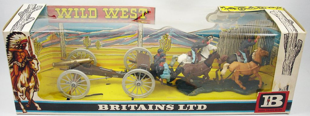 Britains - Federate - American Civil War Gun Team and Limber (Mint in box)