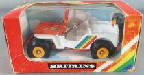 Britains - The Farm - White & Orange Jeep (ref 9421) (Mint in box)