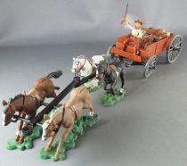 Britains Alni Argentine Cowboy Chariot Ravitaillement 4 Chevaux