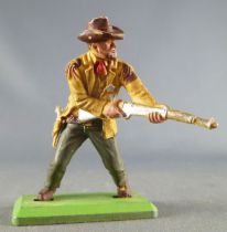 Britains Deetail - Cowboy - Footed Sheriff Rifle on Hip (yellow & green)