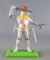 Britains Deetail - Middle-Ages - Knight Footed 3rd series (2 parts) standing sword close helmet