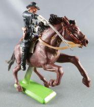 Britains Deetail - Nordiste - Cavalier Officier Cheval Noir Cabré