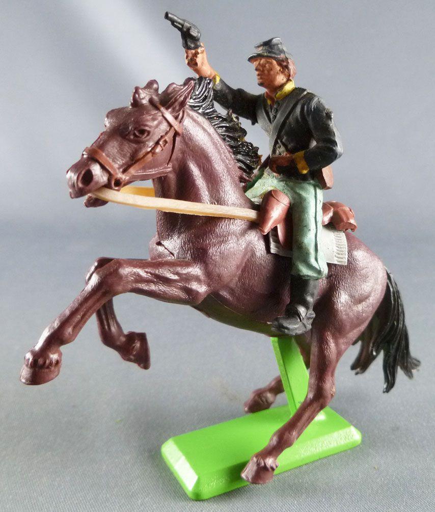 Britains Deetail - Nordiste - Cavalier Révolver Cheval Brun Cabré