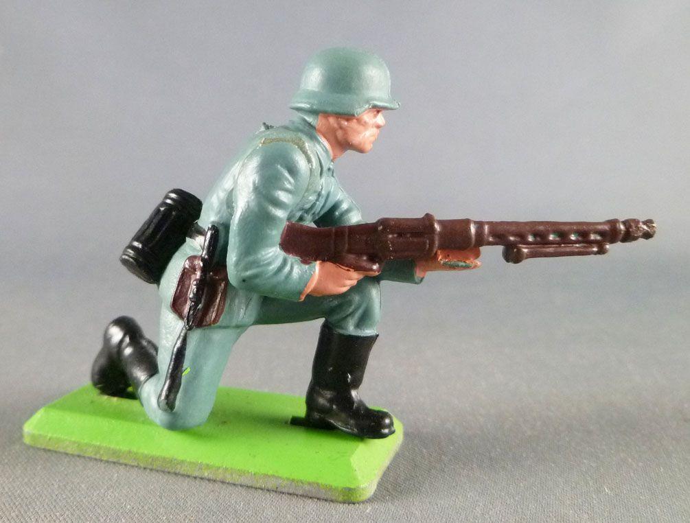 Britains Deetail - WW2 - Allemand - 1ère série à genoux MG à la hanche