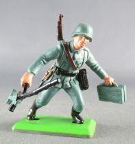 Britains Deetail - WW2 - Allemand - 1ère série Mitrailleuse & boite de munitions