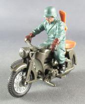 Britains Deetail - WW2 - Allemand - Véhicule Moto et Pilote (réf 9679)