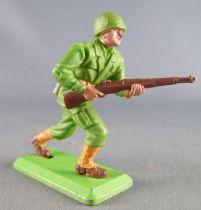Britains Deetail - WW2 - Américain - Avançant les 2 mains sur fusil