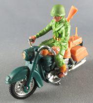 Britains Deetail - WW2 - Américain - Véhicule Moto & pilote Dispatch Rider (réf 9682)