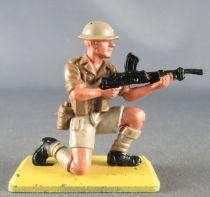 Britains Deetail - WW2 - Anglais 8ème Armée - Tireur M-G à genoux Etat Neuf