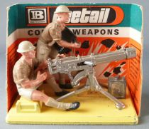 Britains Deetail - WW2 - English 8 th Army - Vickers Machine Gun & Crew Mint in Box (Ref 7339)