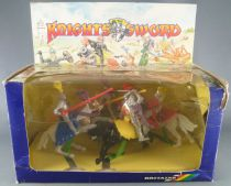 Britains Deetail 7744 - Moyen-Age - Coffret Knight of the Sword 4 Cavaliers NB
