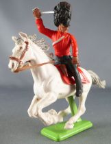 Britains Deetail Waterloo Anglais Cavalier Dragon rouge chargeant regardant à gauche