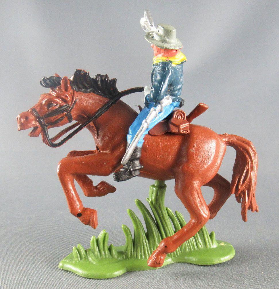 Britains Herald - 7ème de Cavalerie U. S. - Cavalier Officier cheval marron 1