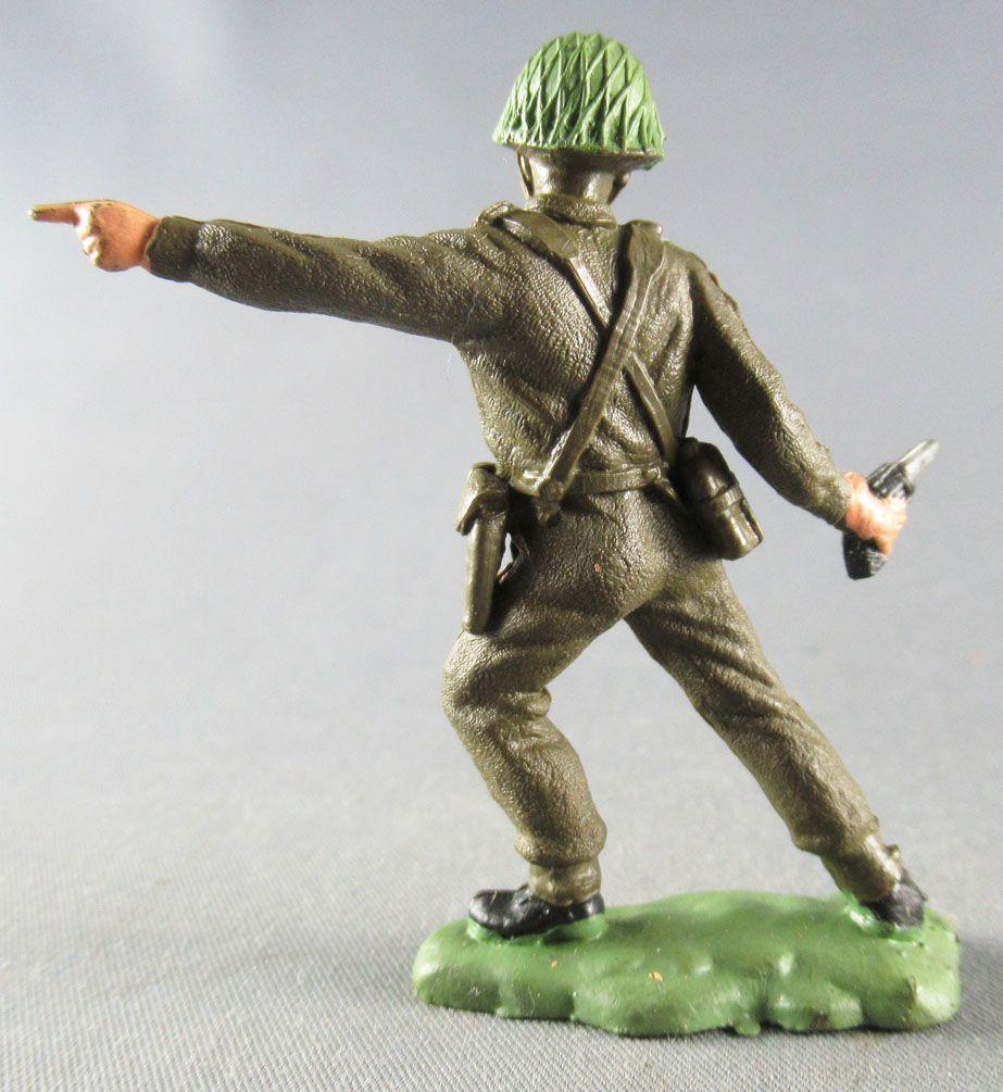 Britains Herald - Infanterie Kaki - Officier avec pistolet 1