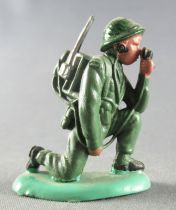 Britains Herald - Khaki Infantry - Radio kneeling 2