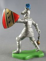 Britains Herald - Middle-Ages - Footed Knight with masse & shield