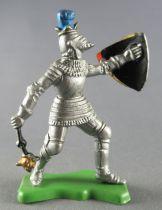 Britains Herald - Moyen-Age - Piéton Chevalier masse d\'arme & bouclier 3 fers de lance