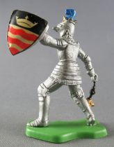 Britains Herald - Moyen-Age - Piéton Chevalier masse d\'arme & bouclier couronne