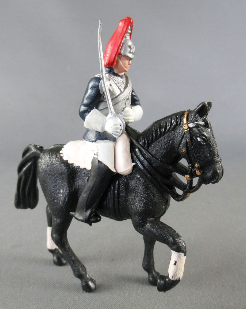 Britains Herald Anglais Horse Guard Cavalier Sabre Cheval Noir
