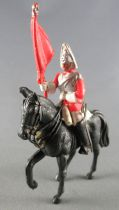 Britains Herald Anglais Life Guard Cavalier Porte Drapeau