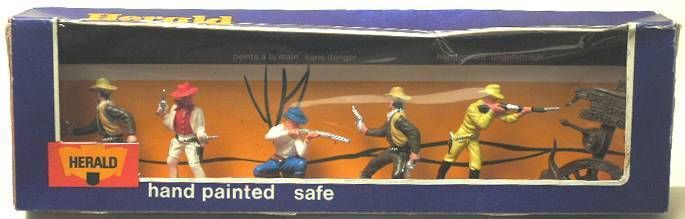 Britains Herald Cowboy Mint Boxed set of 6 figures (ref 4606)