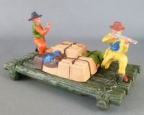 Britains Herald Cowboy Raft Set withTtwo Figures (ref 4601)