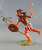 Britains Swoppets - Indian - Footed Runing with shield & tomahawk