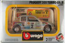 Burago 0106 Peugeot 205 Turbo Gr.B Rallye Salonen 1/24 Neuve Boite
