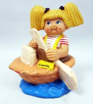 Cabbage Patch Kids - PVC Figure 1984 - Girl in nutshell boat