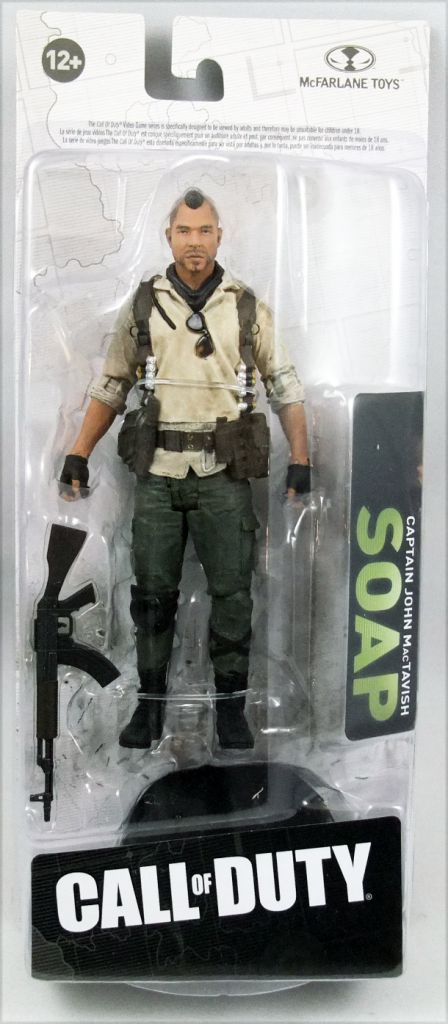 Video Game McFarlane Toys  Call of Duty Captain Jhon Mac Soap Action Figure 6/'/'