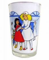 Candy - Amora mustard glass Candy as a nurse