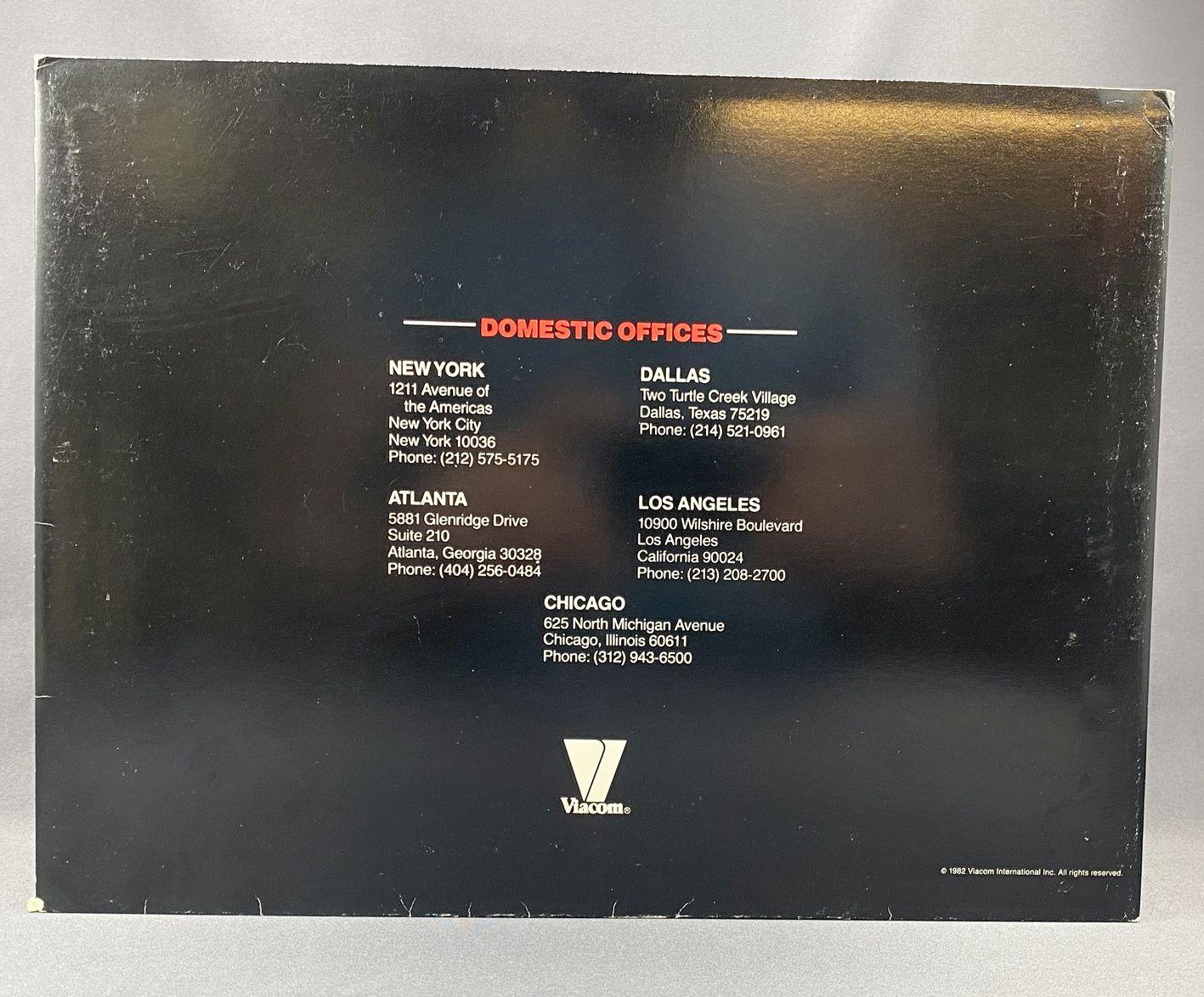 Cannon (William Conrad) - Viacom (1982) - Dépliant Communiqué Média et Audiences (Media and Audience Press Release)