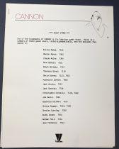 Cannon (William Conrad) - Viacom (1986) - Kit Promotionnel (Promotion Kit) Albert Hirschfeld