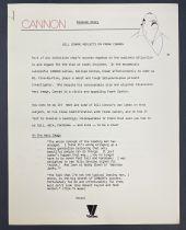 Cannon (William Conrad) - Viacom (1986) - Promotion Kit (Albert Hirschfeld)