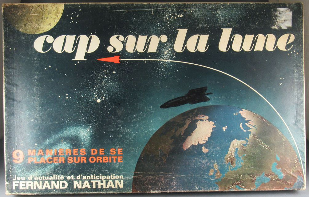 Cap to the Moon - Board Game - Fernand Nathan Ref 540-726 1968