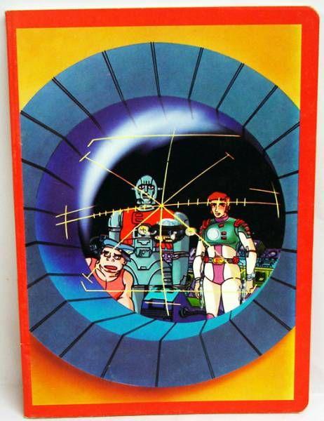 Capitaine Flam - Cahier d\'écolier - L\'équipage du Cyberlabe