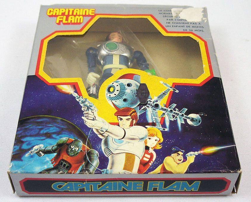 Capitaine Flam - Figurine Capitaine Flam Popy France (loose avec boite)
