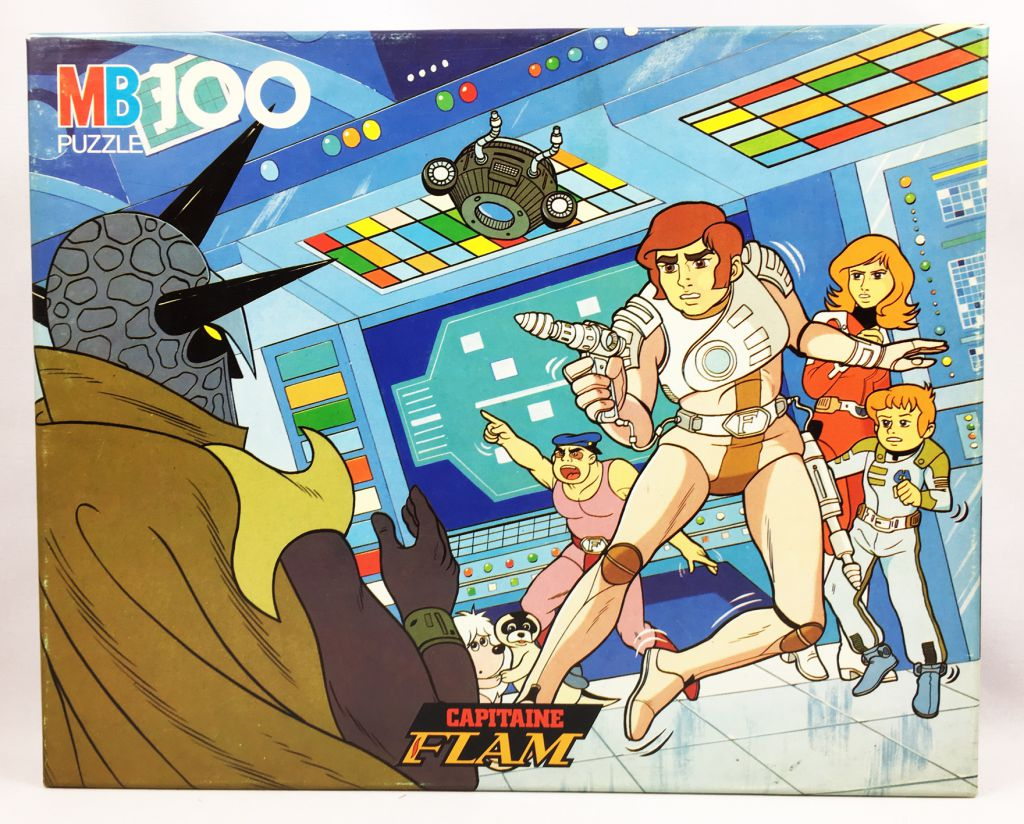 Capitaine Flam - Puzzle MB n°4 (Flam contre l\'Empereur de l\'Espace)