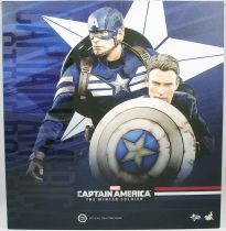 "Captain America The Winter Soldier - Cap & Steve Rogers (Chris Evans) 12"" figures - Hot Toys Sideshow MMS 243"