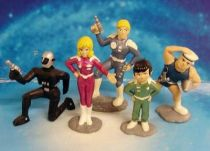 Captain Future - Complete set of 5 PVC figures \'\'original colors\'\'