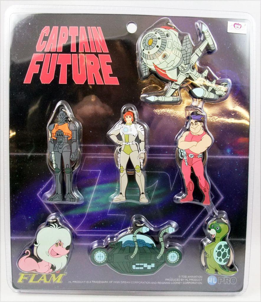 Captain Future - Set of 7 rubber key chain figures - HL Pro
