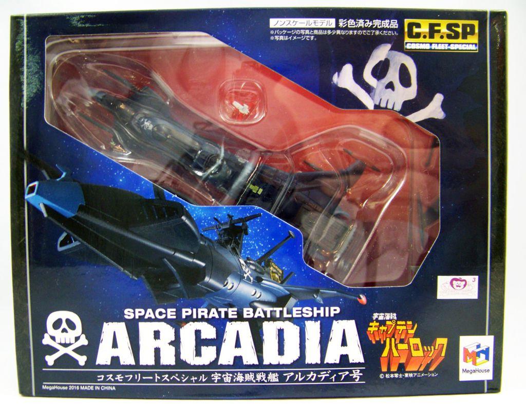 Megahouse Cosmo Fleet Special Space Pirate Captain Harlock Arcadia Figure Japan