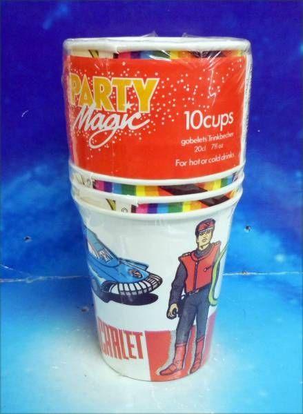 Captain Scarlet - Party Magic - Lot de 10 Gobelets Carton d\'Anniversaire