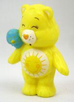 Care Bears - Kenner - Miniature - Funshine Bear talking with a friendly bluebird (loose)