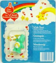 Care Bears - Kenner - Miniature - Wish Bear holding a wishbone (square card)