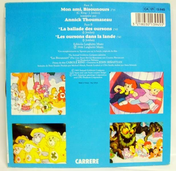 Care Bears Original French Motion Picture Soundtrack - Mini-LP Record - Carrere 1986