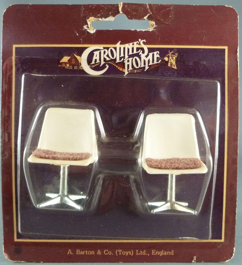 Caroline\'s Home -  2 Chaises Designs Maison de Poupées Neuf Blister