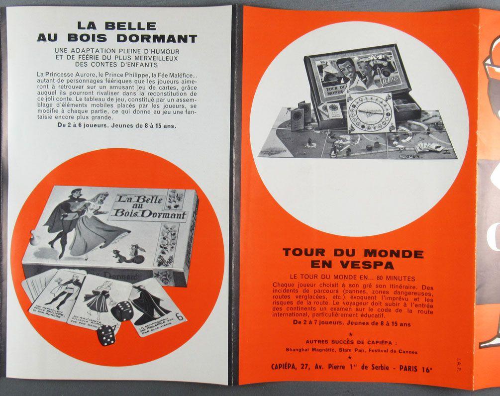 Catalogue Dépliant Capiépa 1963 + Catalogue Miro 5 Colonnes à la Une Tour Monde Vespa