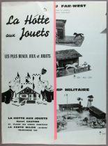 Catalogue Dépliant La Hotte aux Jouets 1964 + Tarif Crèches Garages Fermes Châteaux Forts