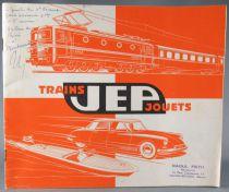 Catalogue Jep 1961 - Autos Avions Bateaux Pistolets Trains Echelle Ho & O